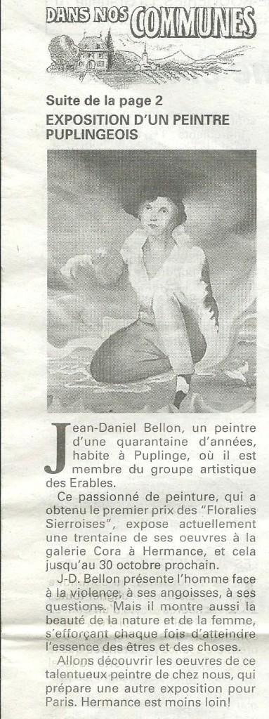 Journal de Genève  N°173 Octobre 1993
